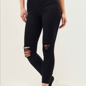 PacSun Eagle High Rise Ankle Jeggings Black